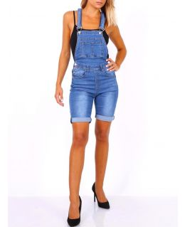 Womens Denim Cycling shorts Dungaree, Uk Sizes 8 to 14