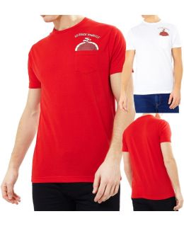 Mens Christmas T Shirt Red Go Pluck Yourself Xmas Size XS S M L XL White Novelty
