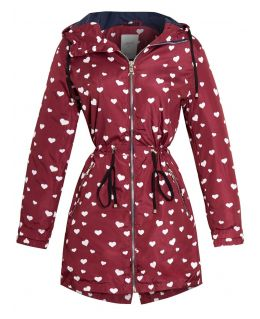 Womens Showerproof Windproof Raincoat, Navy, Burgundy, UK sizes 8 to 16