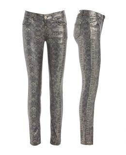 Wet Look Skinny Women's Jeans Size 6 8 10 12 14