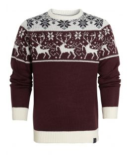 Mens Reindeer Christmas Jumper, Sizes S to XXL