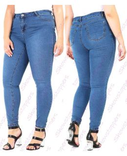 Womens Stretch Denim Jeans Curve Slim Pocket Plus Size 16 18 20 22