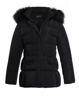 Womens Puffer Jacket Padded Parka Faux Fur Coat, Sizes 14 to 22