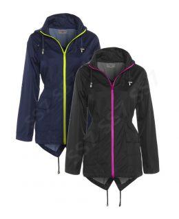 Neon Zip Showerproof Raincoat (Curve)