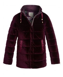Womens Velvet Quilted Bubble Coat, UK Sizes 10 to 18