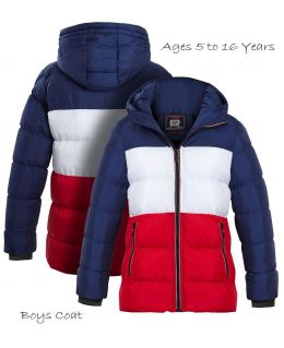 Boys Padded Parka Coat, Ages 5 to 16 Years