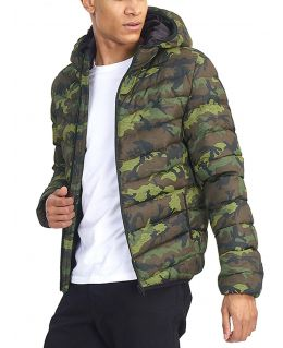 Boys Bubble Puffer Coat, Camouflage, Ages 7 to 13 Years