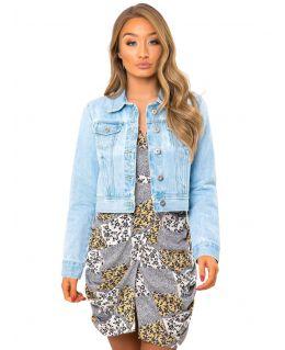 Womens Bleach Blue Denim Jacket, UK Sizes 8 to 16