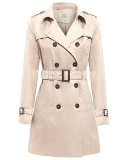 Womens double Breasted Trench Coat, Stone, Camel, black, Grey, UK Sizes 8 to 14