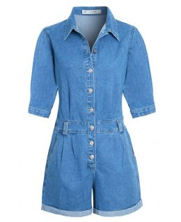 SS7 Womens Puff sleeve Playsuit, UK sizes 8 to 14