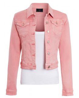 Womens Stretch Denim Jacket Denim Pink & Grey, UK Sizes 6 to 14