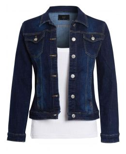 Girls Stretch Indigo Denim Jacket, Ages 7 to 16 Years
