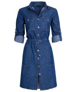 Womens Longline Denim Shirt Dress, UK Sizes 8 to 16