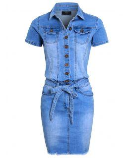 Womens Denim Pencil Dress, UK sizes 8 to 16