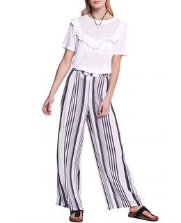 Casual Striped Loose Fit Summer Trousers