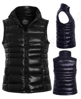 Womens Padded Gilet Bodywarmer Jacket, Black, Navy, Plus Sizes 18 to 24