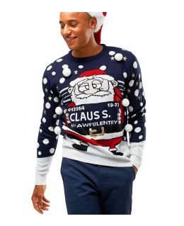Christmas Naughty Santa Jumper