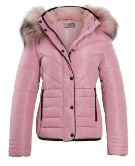 Womens Luxurious Fur Puffer Jacket, Pink, Black, Grey, Sizes 6 to 16