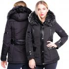 Womens Size 16 8 10 12 14 6 Premium Faux Fur Padded Parka Coat PU Trim