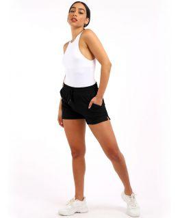 Womens Jersey Sweat shorts, Black, Grey, UK Sizes 8 to 14