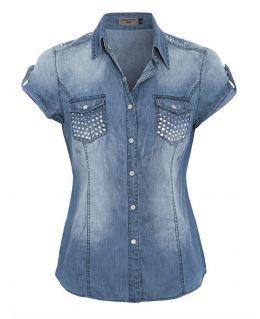 Women's Denim Blue Shirt Size 8 - 14