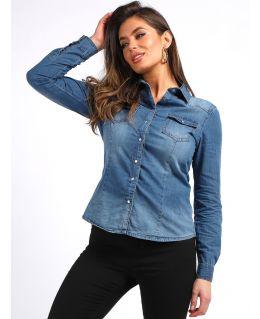 Womens Vintage Denim Shirt, UK Sizes 8 to 14