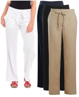 Womens Linen Trousers, Size 10 to 18