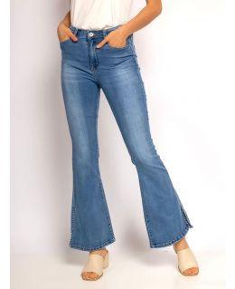 Side Slit Stretch Denim Bootcut Jeans, UK Sizes 6 to 14