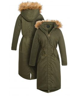 Womens Maxi Length Padded Parka Coat, UK Sizes 8 to 16