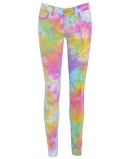 Bright Tie Dye Patterned Jean