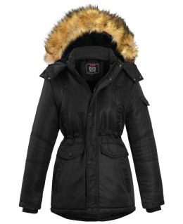 Boys Padded Parka Coat with Detachable Faux Fur Hood, Ages 5 to 16 Years
