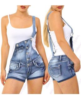 Blue Dungaree Denim Short
