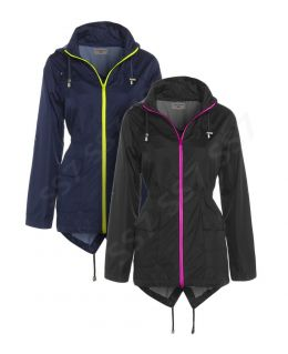 Neon Zip Showerproof Raincoat (Curve)