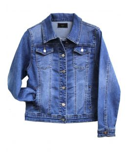 Girls Stonewash Stretch Denim Jacket, Childrens Ages 3 to 14 Years