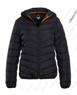 Boys Black Quilted and Padded Jacket