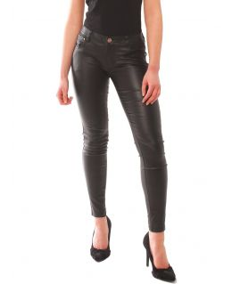 Womens Slim Fit PU Jeans, Wet Look, UK Sizes 6 to 14