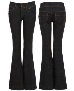 Fitted Flared Denim Jeans