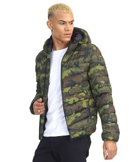 Mens Camouflage Padded Puffer Jacket, Uk sizes S to XL