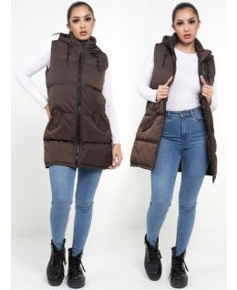 Padded Puffer Mid Length Waistcoat, UK Sizes 8 to 16