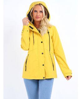 Waterproof Windproof Raincoat, Yellow, Navy, UK Sizes 8 to 16