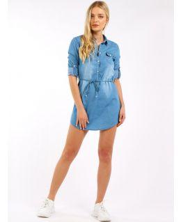 Cotton Denim Shirt Dress, UK Sizes 6 to 14