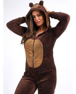 Fleece All in One Monkey Onesie, UK Sizes 8 to 16