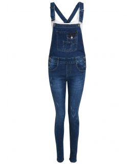 Womens Stretch Denim Indigo dungaree Jeans, Indigo, UK Sizes 8 to 16
