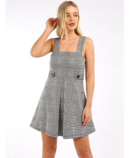 Checked Pinafore Dress, UK Sizes 8 to 14