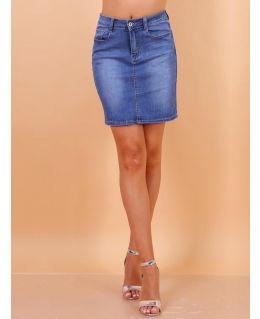 Womens Straight Stretch Denim Skirt, UK Sizes 8 to 18