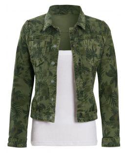 Womens Reversible Stretch Denim Jacket, Khaki, Stone, UK Sizes 8 to 14