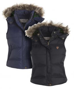 Quilted Sleeveless Bodywarmer with Faux Fur trim, Plus Size 18 to 24