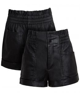 Womens High Waist Wet Look Shorts, UK Sizes 6 to 14