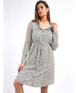 Polka Dot Shirt Dress, UK Sizes 10 to 16