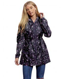 Showerproof Printed Raincoat Jacket, UK Sizes 10 - 24